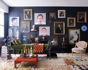 masculine gallery wall