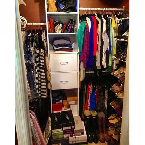 Surrounded by Pretty full closet
