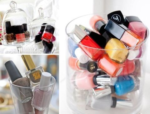 Showcase your cosmetics and nail polish while you organize them