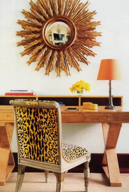 Office Chair in Scalamandre Leopard