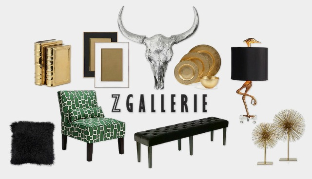 Glam and home accessories to the stars at Zgallerie, surroundedbypretty.com approves