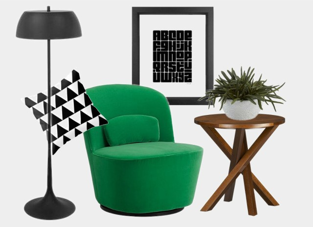 Get the black white and green Scandinavian look on surroundedbypretty.com