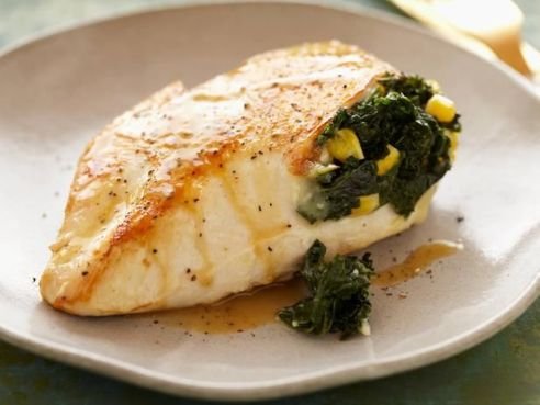 Spicy kale and corn stuffed chicken breast delicious healthy recipes on surroundedbypretty.com
