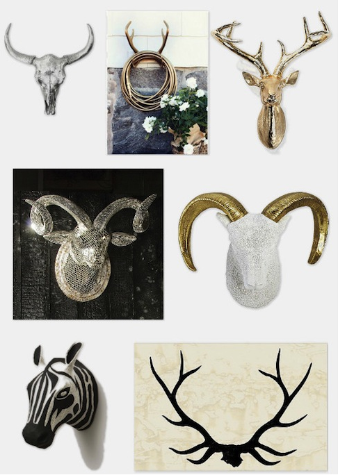 Fauxidermy is a chic alternative to antlers on the wall on surroundedbypretty.com