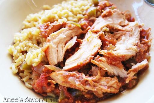 Sweet and Spicy Crockpot Chicken from Amee's Savory Dish delicious healthy recipes on surroundedbypretty.com