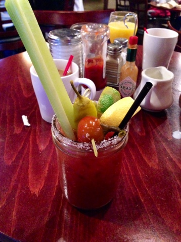 The most delicious Bloody Mary ever, Spicy Mary found in Lake Placid, NY on surroundedbypretty.com