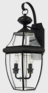 Black Outdoor Wall Lantern used for a exterior entrance makeover for under $100 on surroundedbypretty.com
