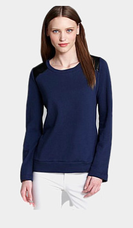 Sweatshirt with an edge on surrounded by pretty
