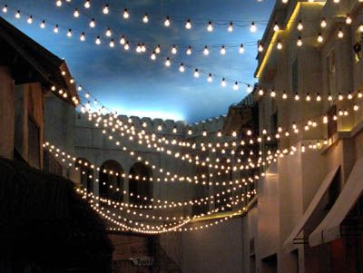 outdoor string light inspiration on surroundedbypretty.com