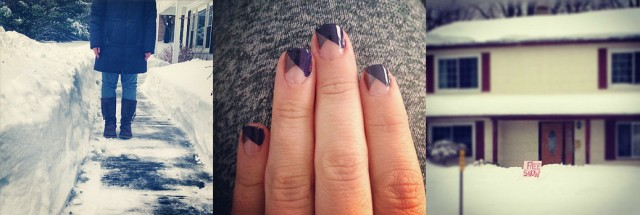 Polar Vortex and Home Manicures on surroundedbypretty.com